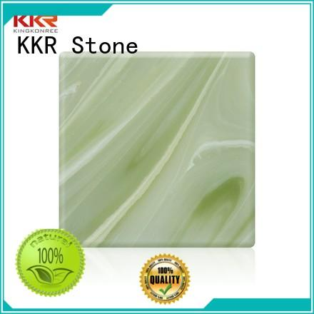 KKR Stone unique translucent solid surface free design for school building