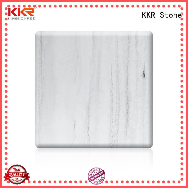 KKR Stone artificial veined solid surface sheets vendor for building