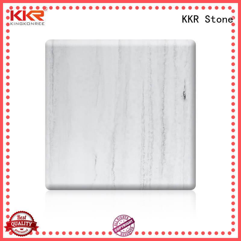 solid surface slab acrylic for school building KKR Stone