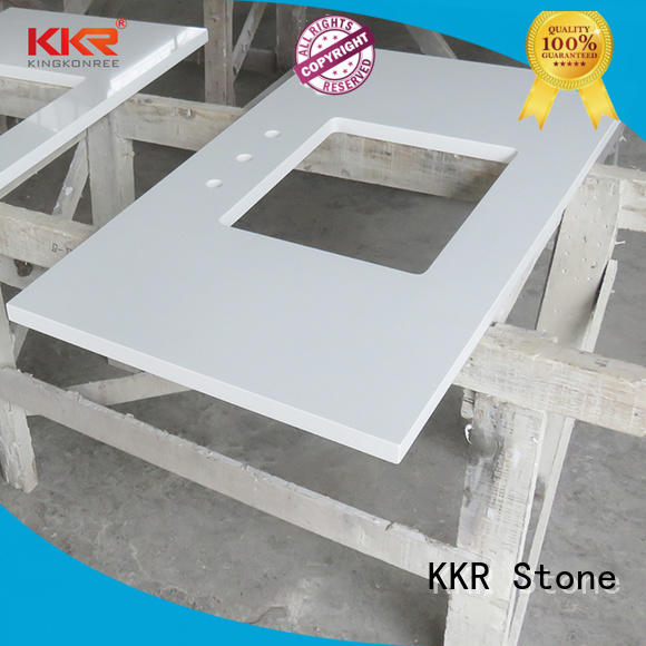 KKR Stone pattern bathroom vanity tops supplier for worktops