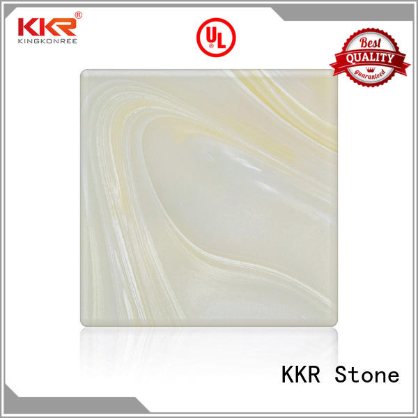 KKR Stone stone translucent solid surface material for garden table