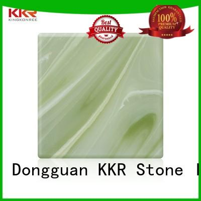 sheets artificial translucent stone for bar table KKR Stone