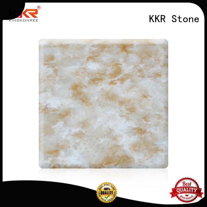 KKR Stone pattern corian solid surface sheet in good performance for entertainment