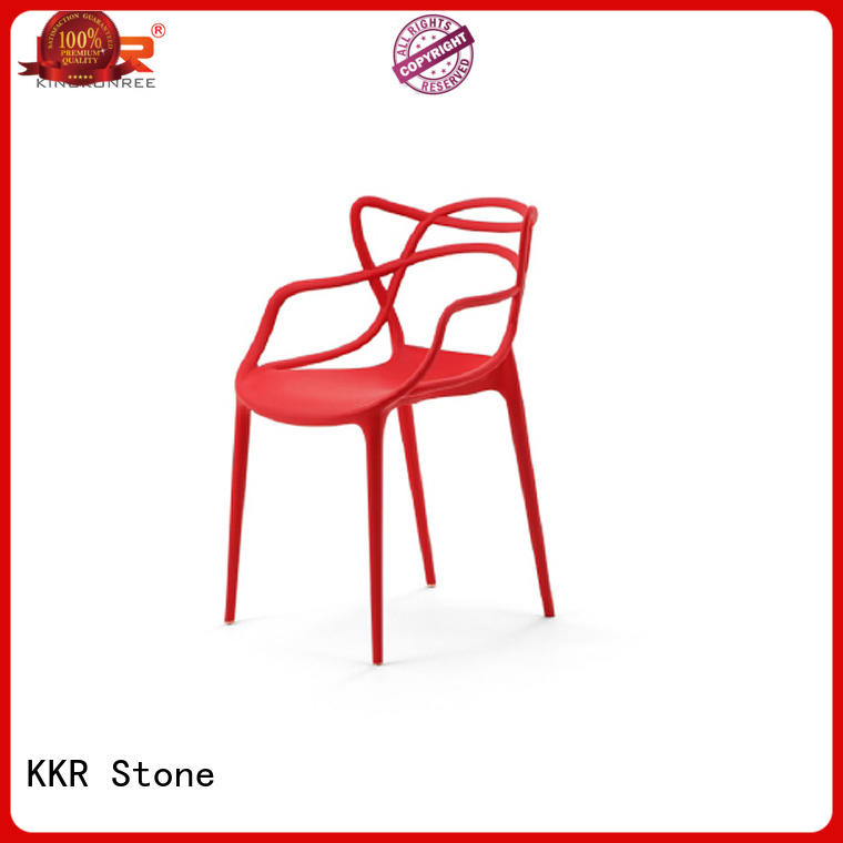 KKR Stone fine- quality plastic stool price cost for outdoor