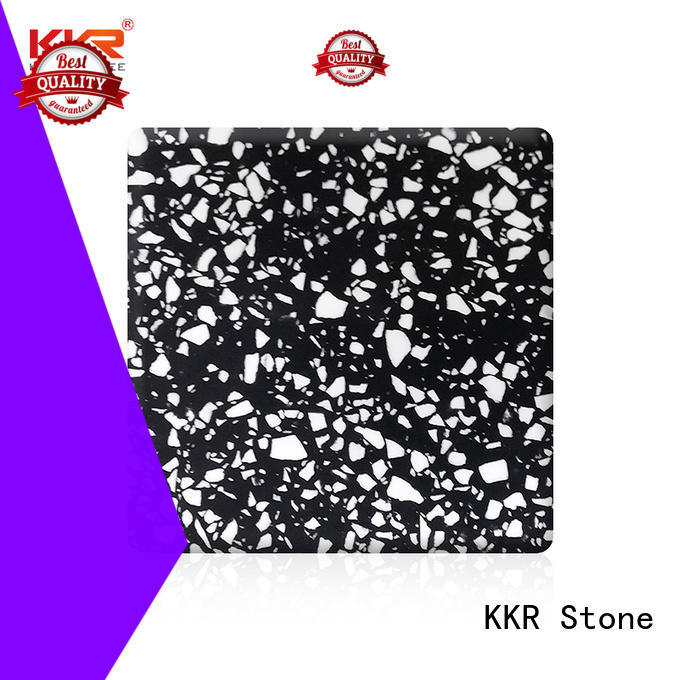 KKR Stone beautiful modified acrylic solid surface superior chemical resistance for self-taught