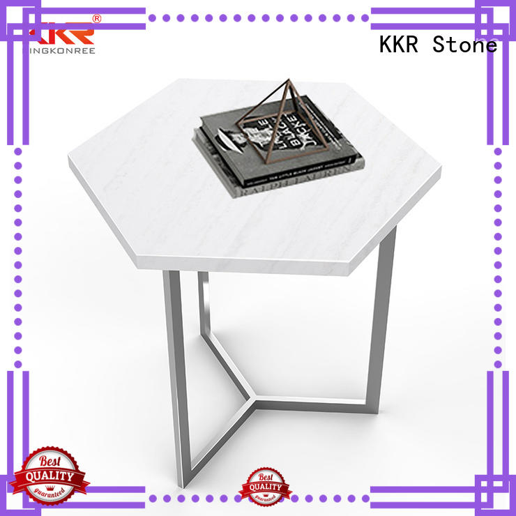 KKR Stone acrylic solid surface table tops restaurant