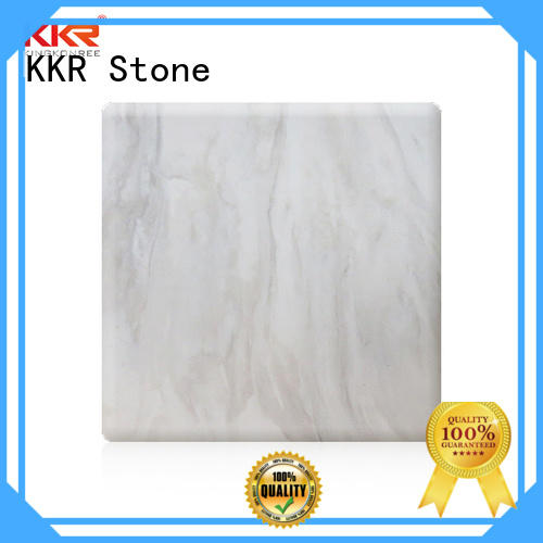 texture pattern solid surface arycli for garden table KKR Stone