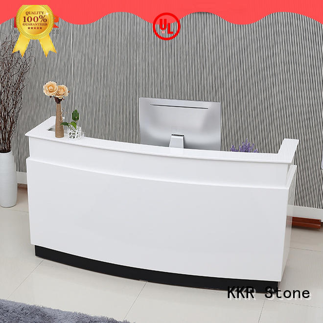 circle reception desk countertop classic for kitchen tops KKR Stone
