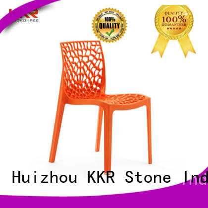 KKR Stone new-arrival clear plastic chair type for garden