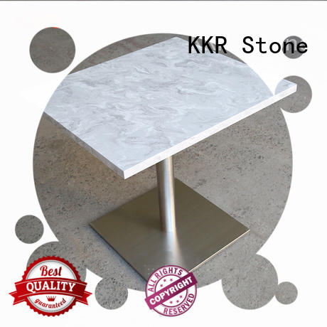 table artificial marble dining table KKR Stone