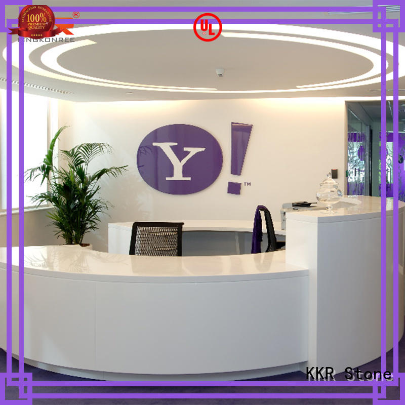 KKR Stone custom-made curved reception desk marble for early education