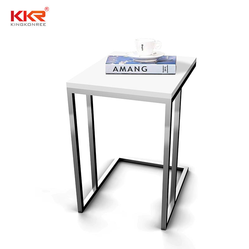 Artificial Marble Acrylic Solid Surface Side Table KKR-ST02