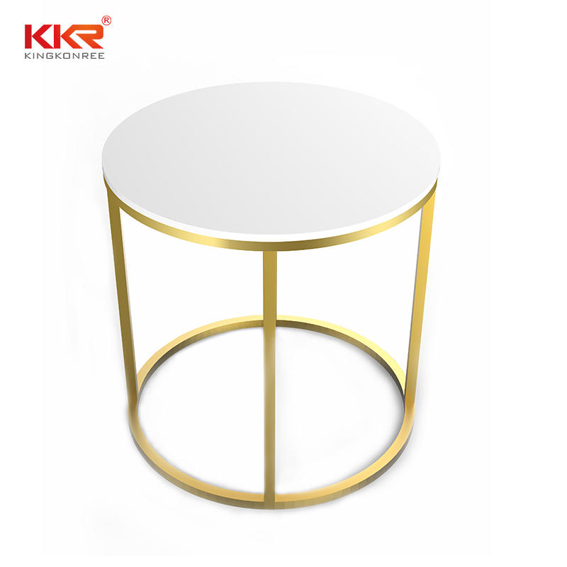 Round Design Solid Surface Coffee Table KKR-ST07