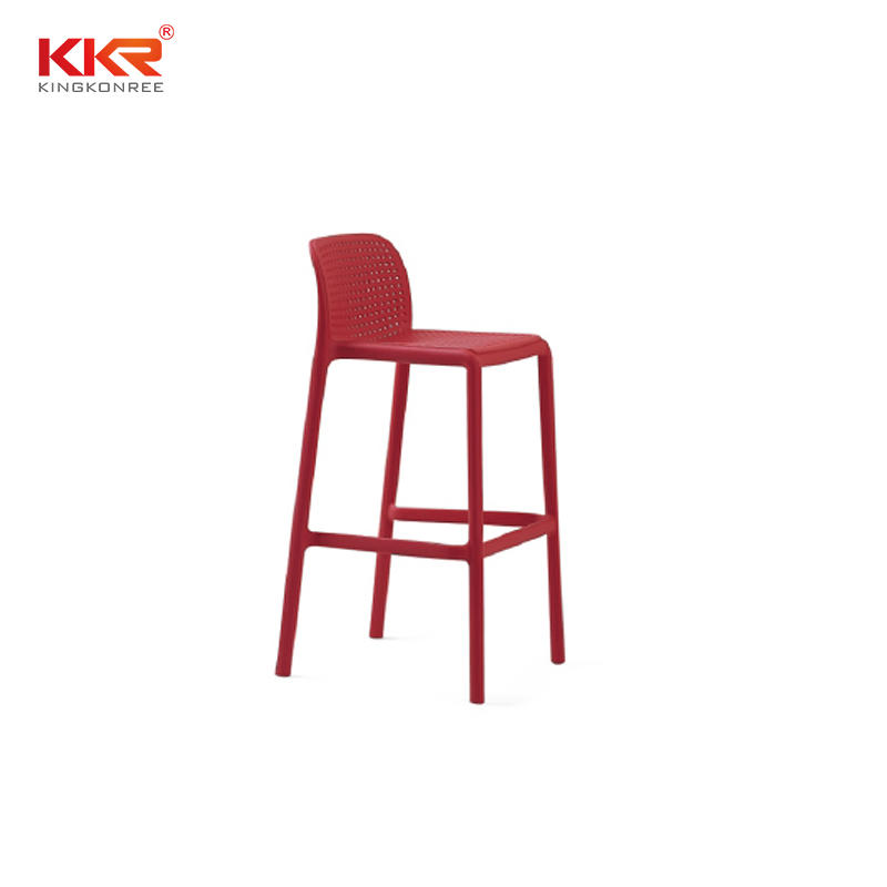 Modern High Quality Plastic Bar Chair With Foot Rest For Sale  KKR - PP - 173H