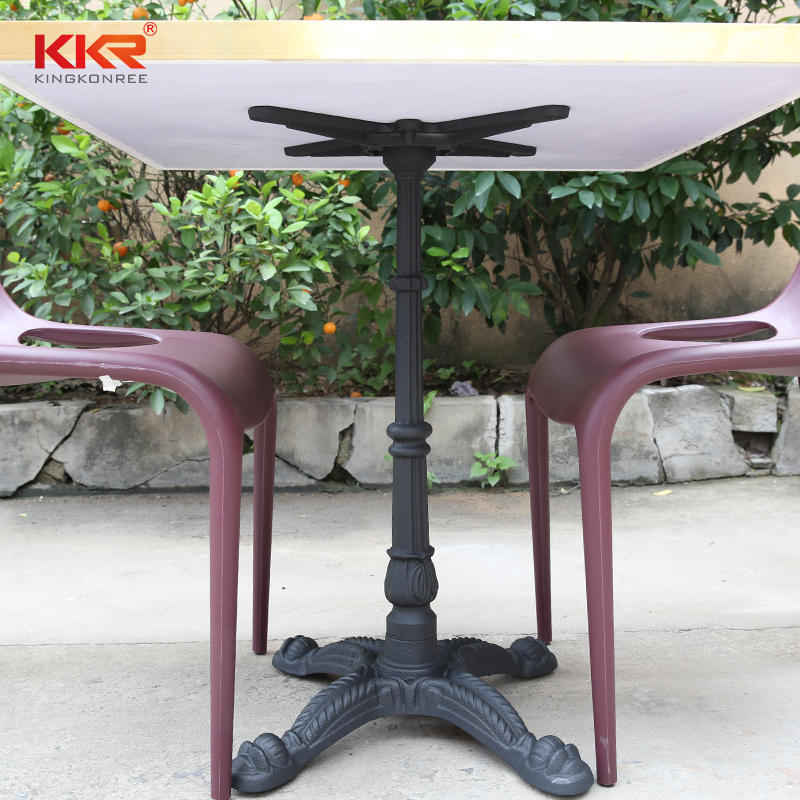 Artificial Stone Texture Marble Pattern Solid Surface Tables KKR-TP1