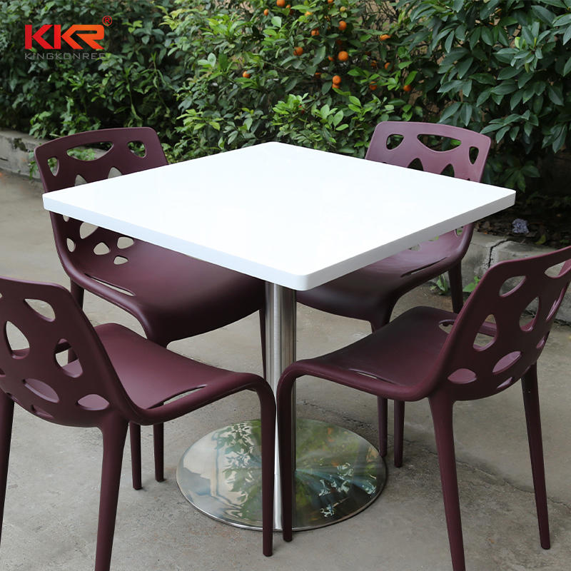700x700mm Square Solid Surface Table KKR-TP3