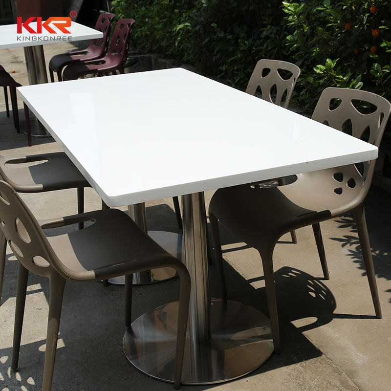1200mm Length Artificial Stone Solid Surface Dinning Tables KKR-TP4