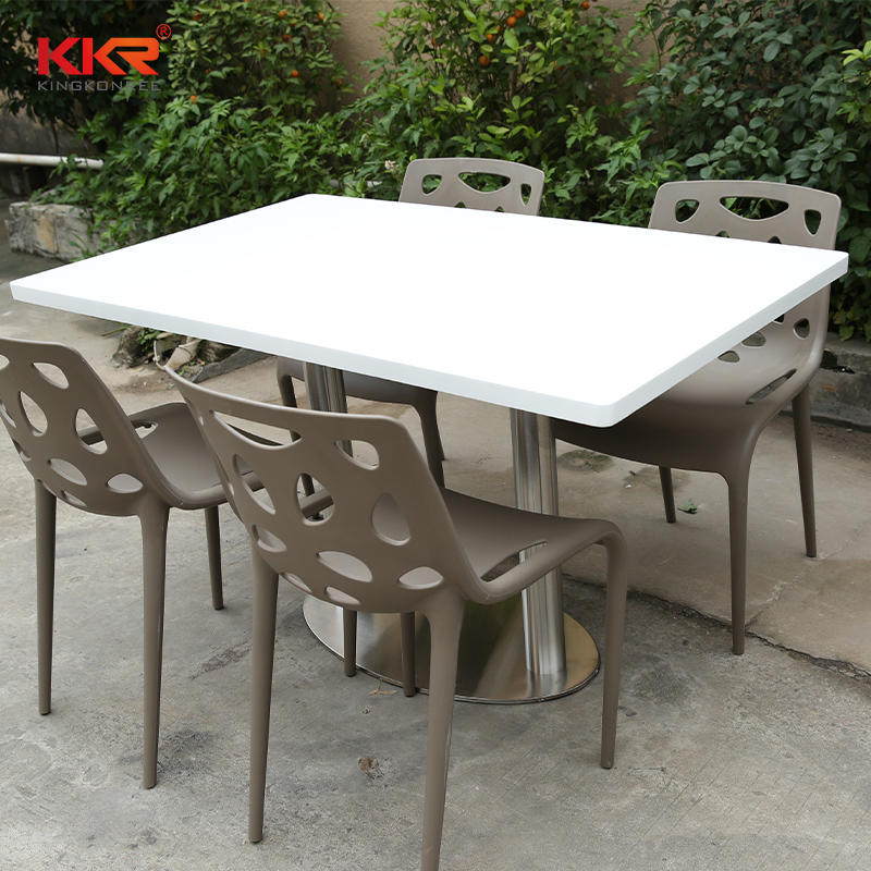 Rectangle Artificial Stone Solid Surface Table And Chair KKR-TP5