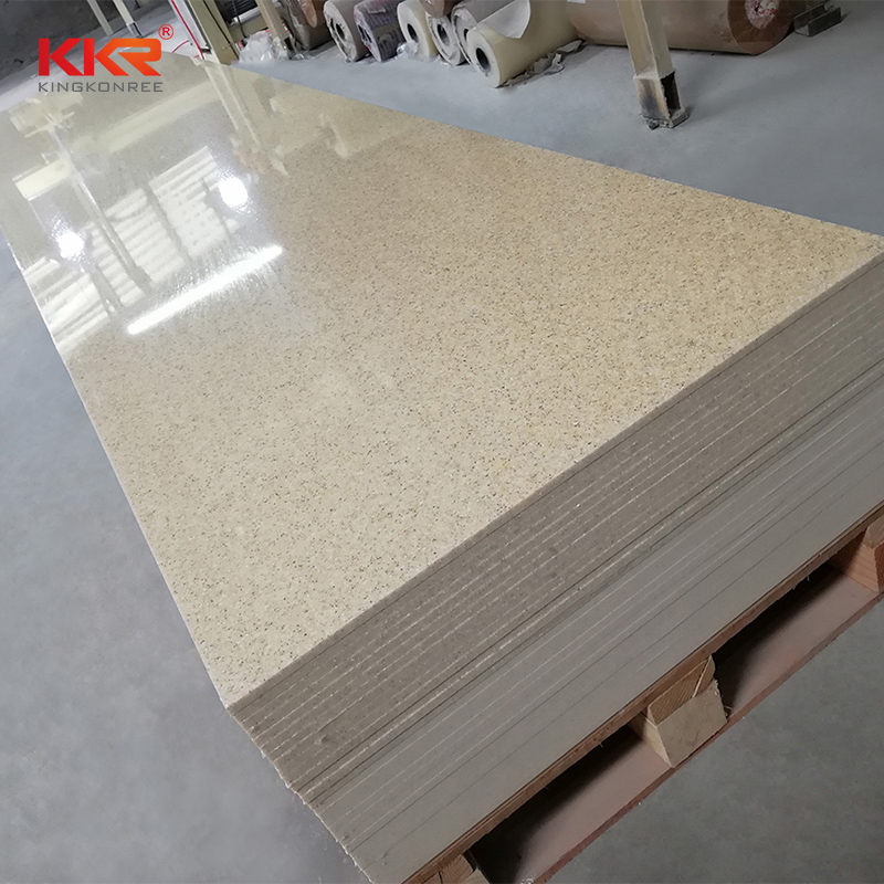 KKR Stone sand modified acrylic solid surface superior chemical resistance furniture set-2