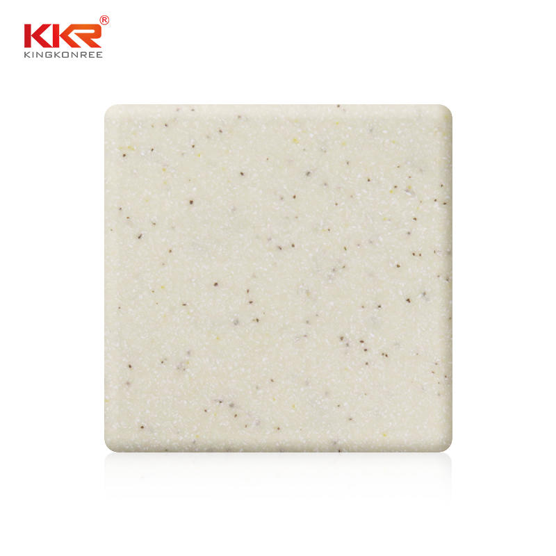 Hot Sles Color Solid Surface Sheets With Small Chips KKR-M1621