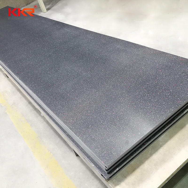 2440mm Black Chips Acrylic Solid Surface Sheets KKR-M1646