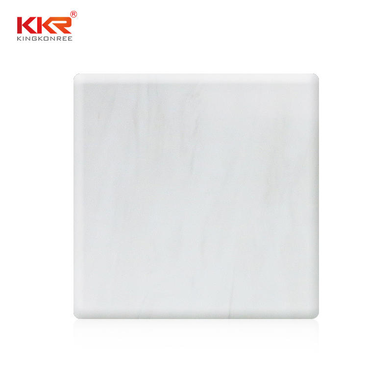 White Marble Texture Pattern Solid Surface Sheets KKR-M8813