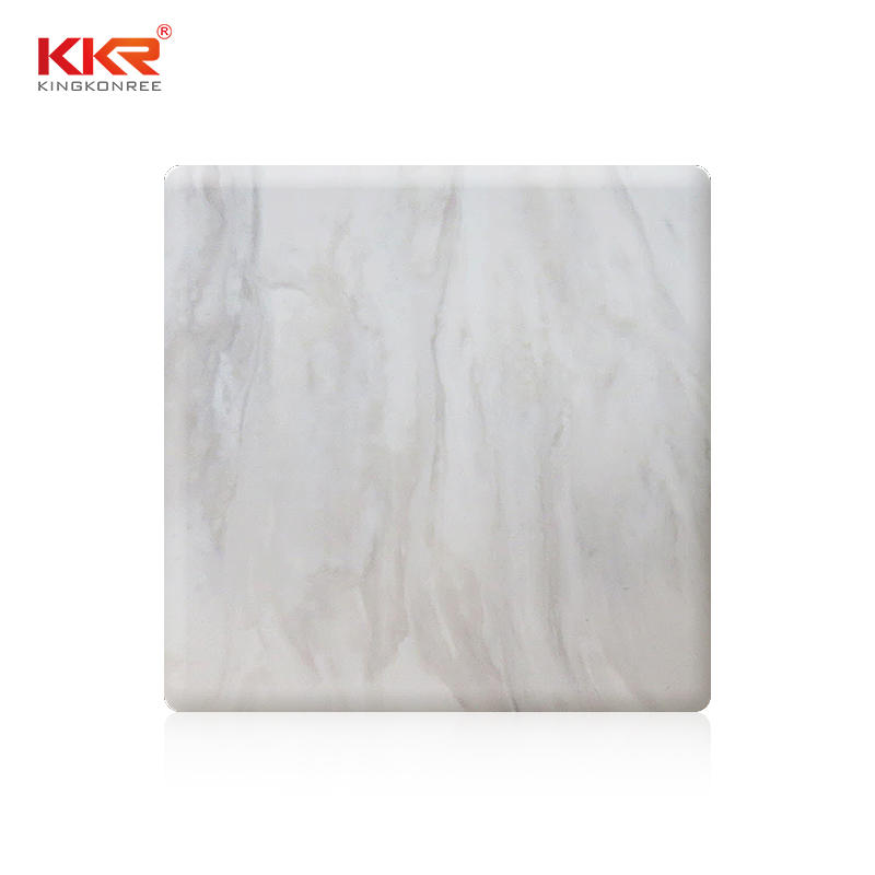 144 Inch Artificial Stone Acrylic Solid Surface Sheets KKR-M8817