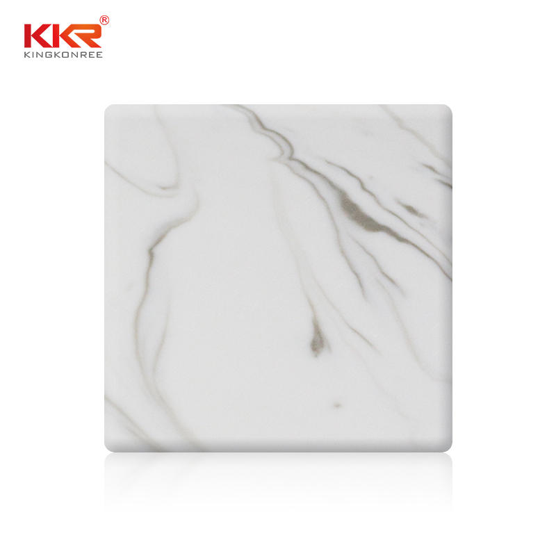 3050mm Length White Marble Acrylic Solid Surface Sheets KKR-M8818