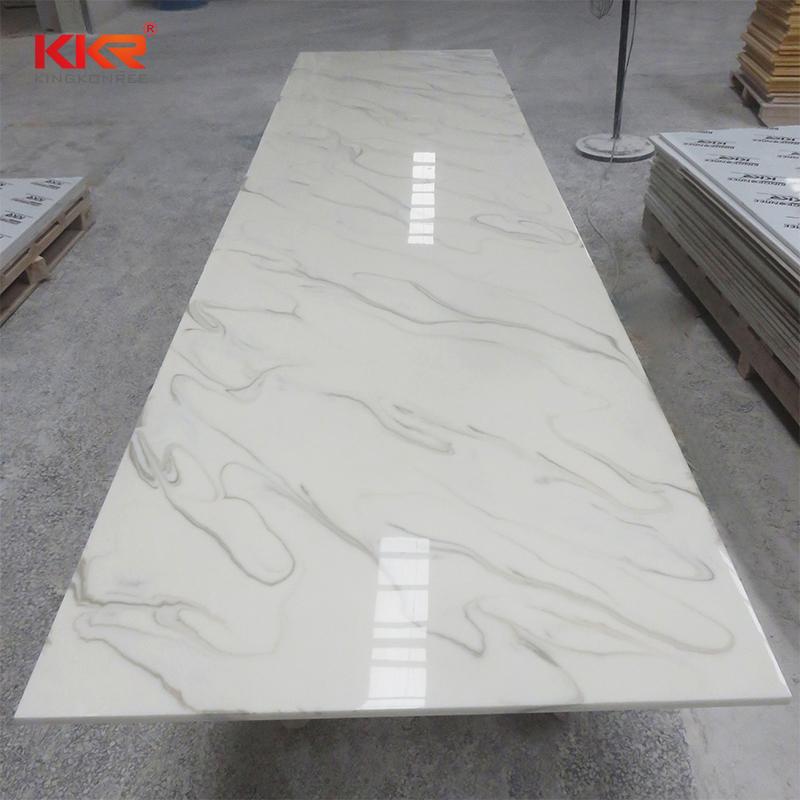 KKR Stone width veining pattern solid surface vendor for school building-2