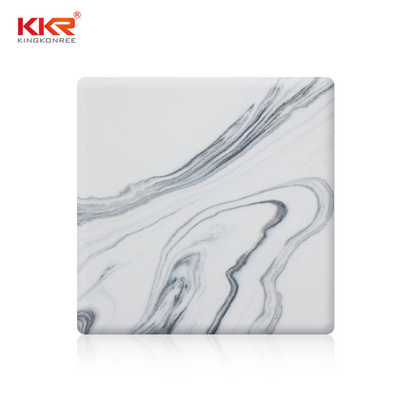 Veining Pattern Acrylic Marble Solid Surface Sheet KKR-M8820