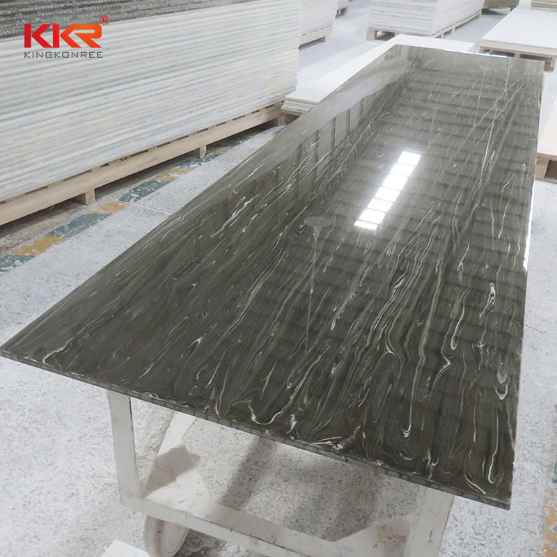 760mm Width Texture Marble Pattern Solid Surface Sheet KKR-M8821