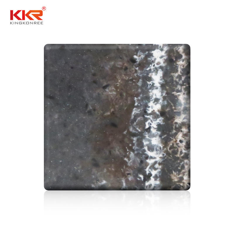 Brown Texture Pattern Modified Acrylic Solid Surface Sheet KKR-M8829