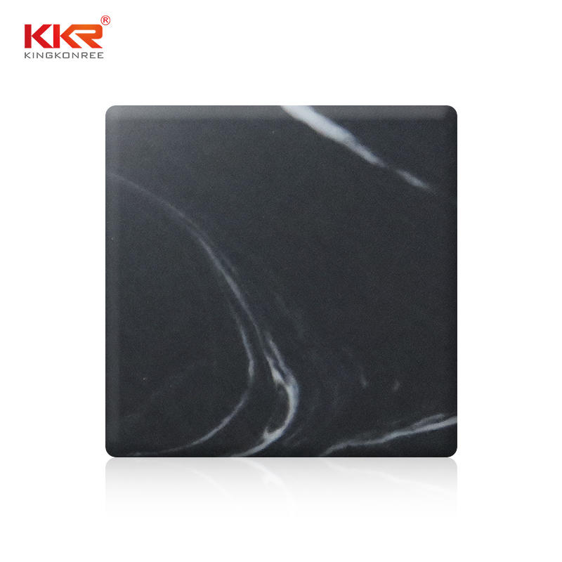 Black Marble Pattern Acrylic Solid Surface Sheet KKR-M8832