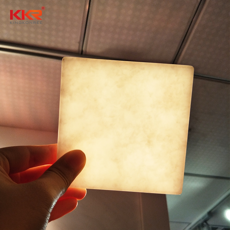 non-polluting translucent solid surface material yellow directly sale for entertainment-2