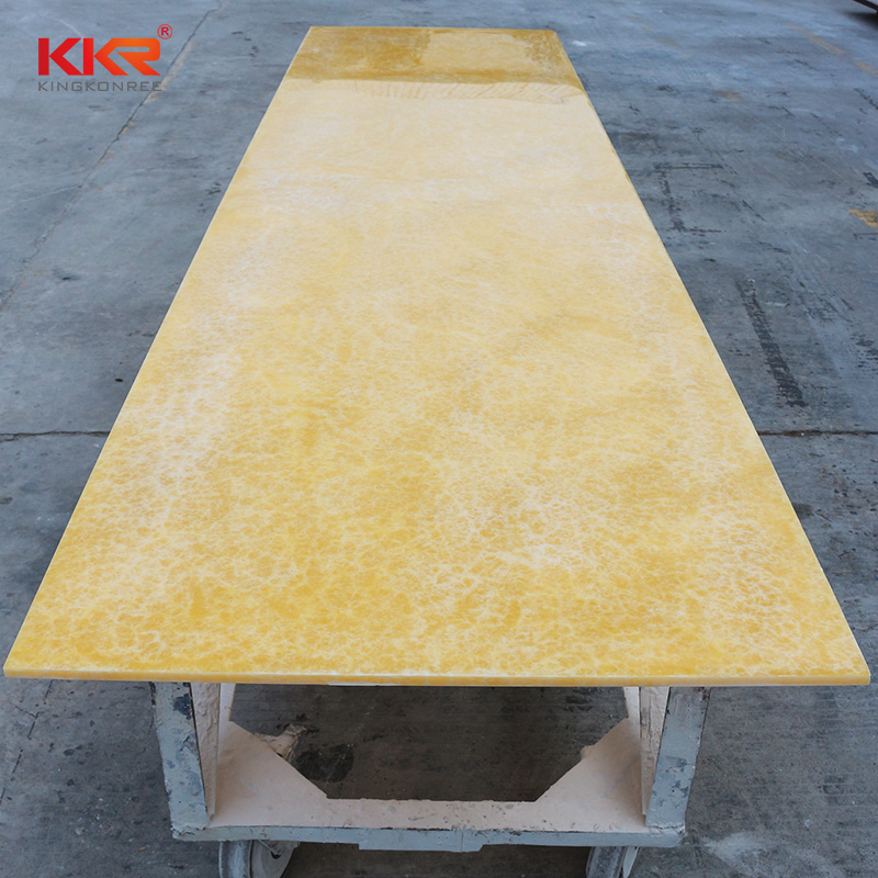 KKR Stone non-polluting translucent stone panel from China for entertainment-2