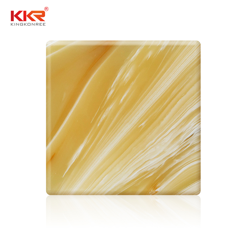 KKR Stone non-toxic translucent resin panel free design for garden table-1