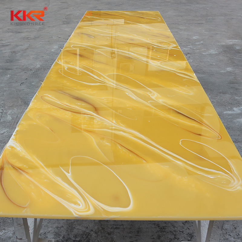 KKR Stone luxury translucent solid surface material factory price for bar table-2