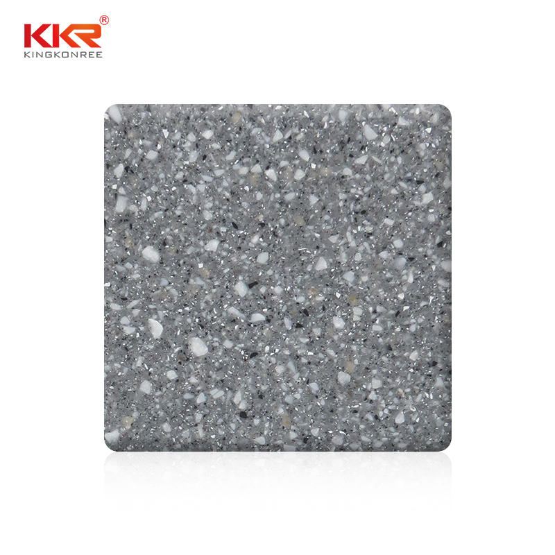 Grey Color With Chips Pure Acrylic Solid Surface Sheets KKR-M2715