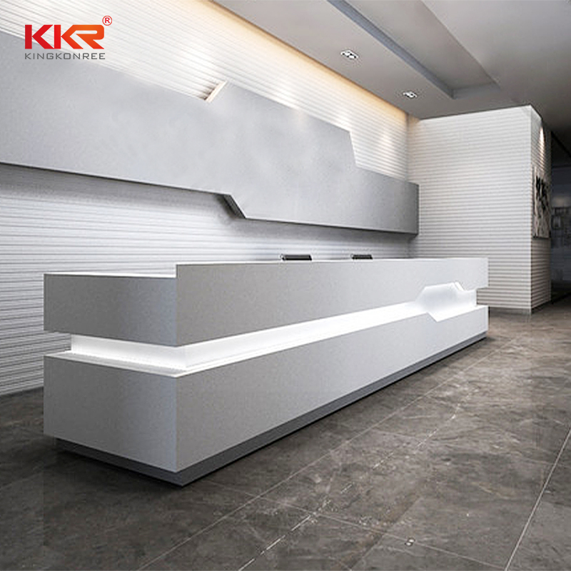 KKR Stone fashion design solid surface reception desk for kitchen tops-1
