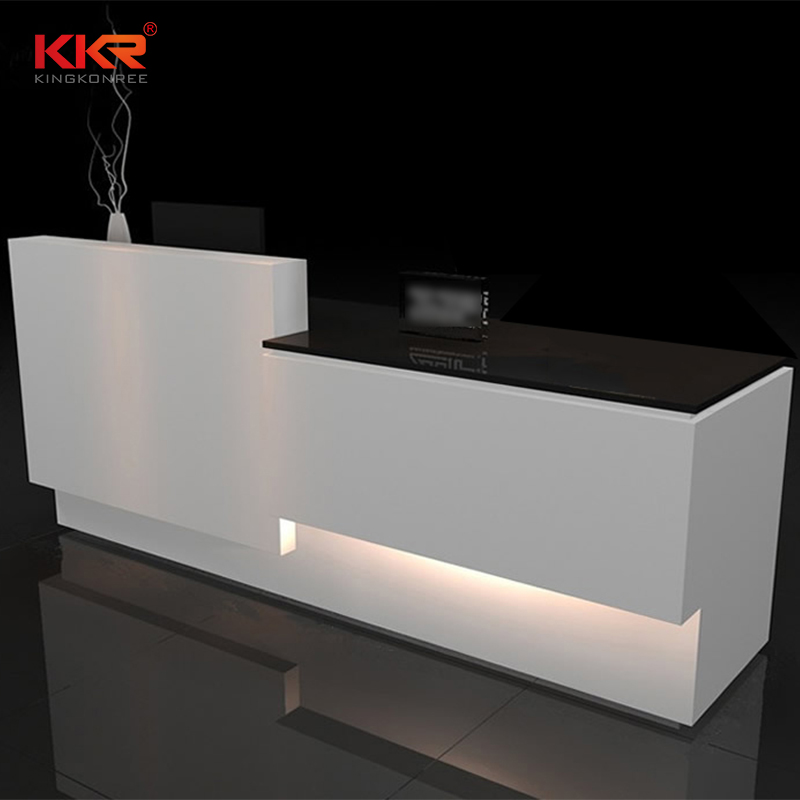 KKR Stone desk solid surface reception desk free quote for worktops-1