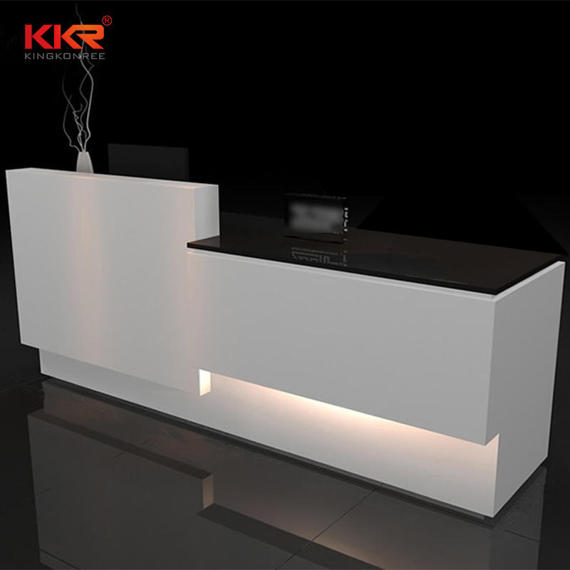Custom Design Acrylic Solid Surface Reception Office Desk 03