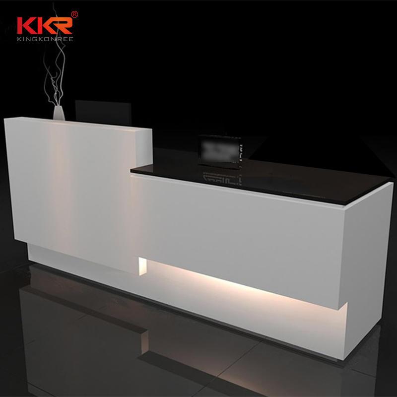 Custom Design Acrylic Solid Surface Reception Office Desk 03