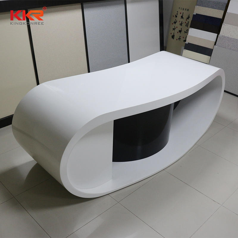 Hot Sales White And Black Solid Surface Office Desk 05