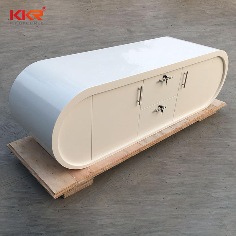 High Quality Acrylic Marble Solid Surface Office Desk 06