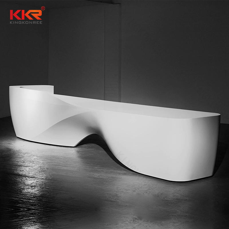 Unique Design Artificial Stone Solid Surface Office Desk 07