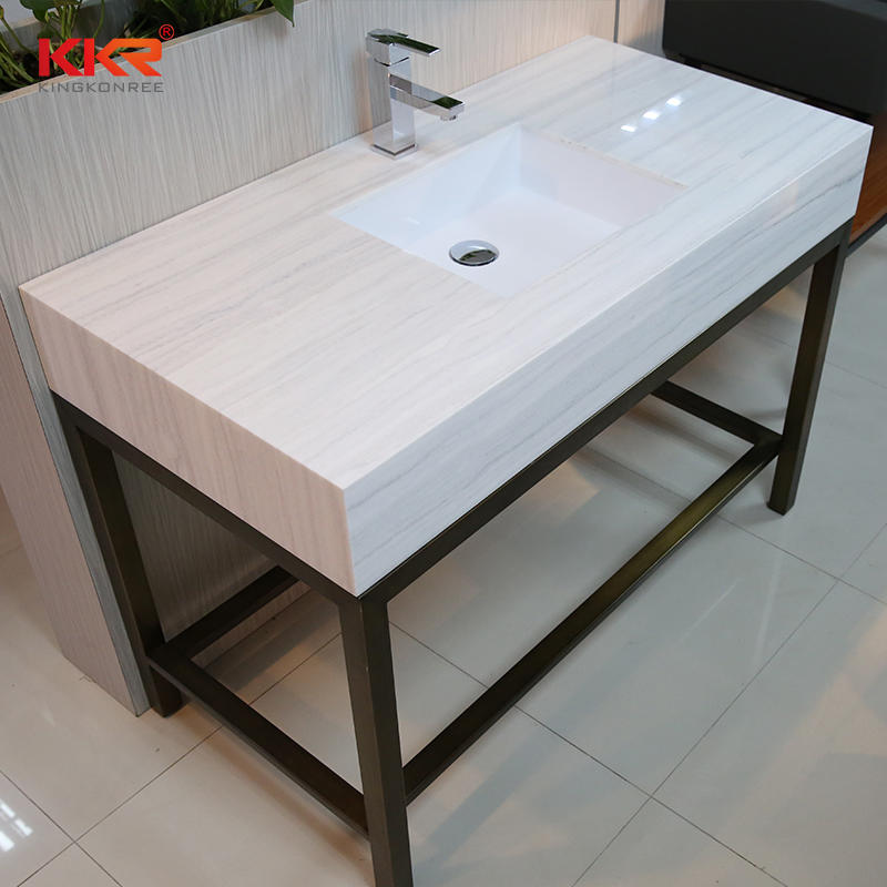 Good Quality Artificial Marble Stone Solid Surface Bathroom Countertop 01