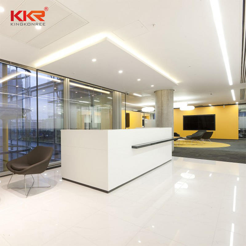Simple Fashion Acrylic Marble Solid Surface Lobby Reception Countertop 003