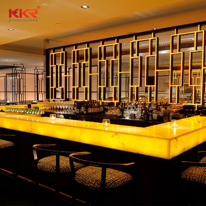 KKR Stone acrylic solid surface table tops-1