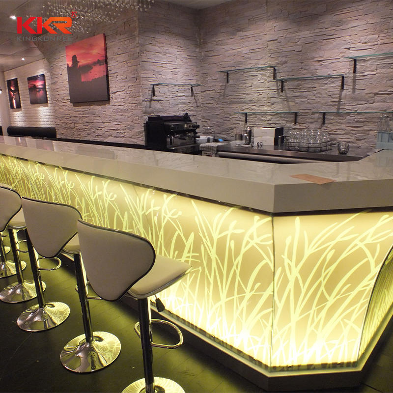 Artificial Stone Acrylic Resin Solid Translucent Surface Bar Countertop 02