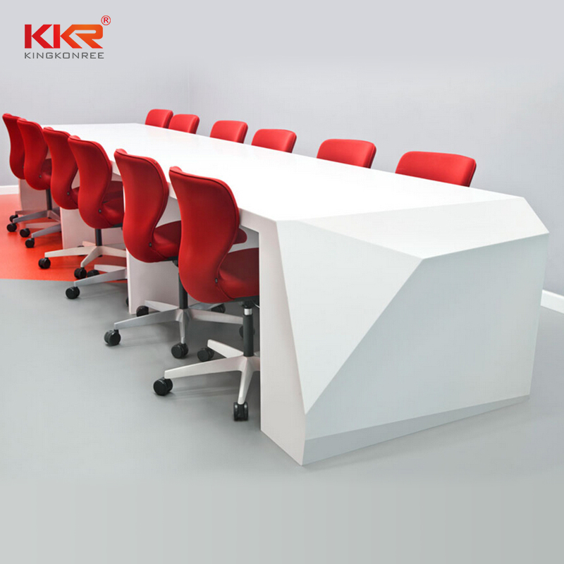 KKR Stone customize solid surface reception desk custom-design for table tops-1